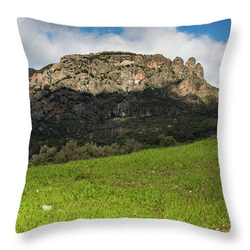 The Three Finger Mountain Throw Pillow