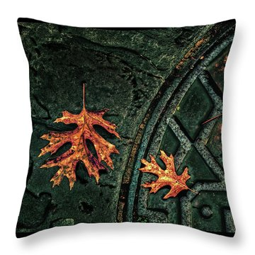 The Three Leaves Throw Pillow