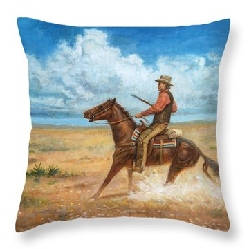 The Tracker Throw Pillow