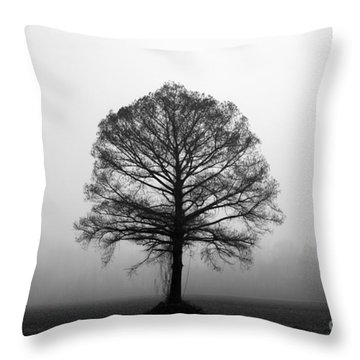 The Tree Throw Pillow by Amanda Barcon