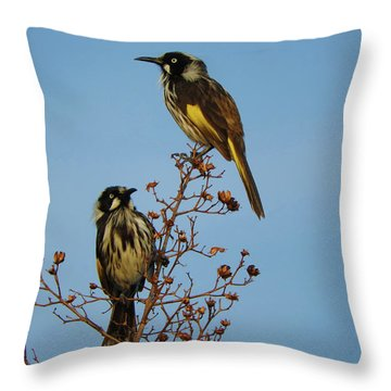 Throw Pillow featuring the photograph The Two Of Us by Mark Blauhoefer