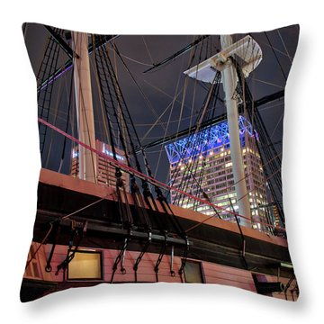 Throw Pillow featuring the photograph The Uss Constellation by Mark Dodd