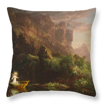 The Voyage Of Life, Childhood Throw Pillow