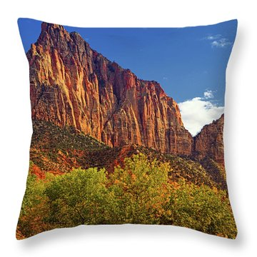 The Watchman Throw Pillow by Raymond Salani III