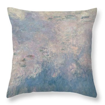 The Waterlilies  The Clouds Throw Pillow