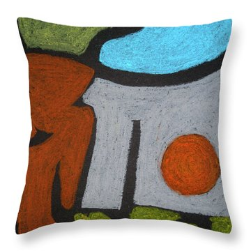 The Weight Of Time Throw Pillow