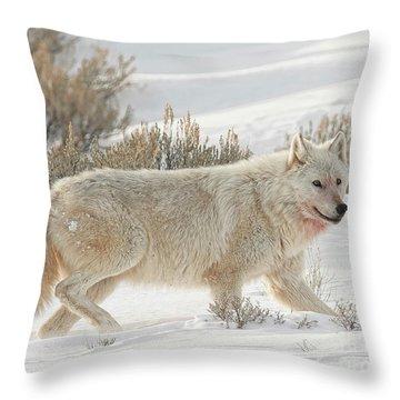 The White Lady Throw Pillow