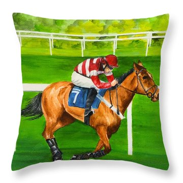The Winner Is Throw Pillow by Ellen Canfield