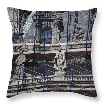 The Wiseguys Throw Pillow by Rob Hans