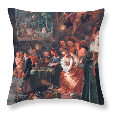 The Witches' Sabbath Throw Pillow