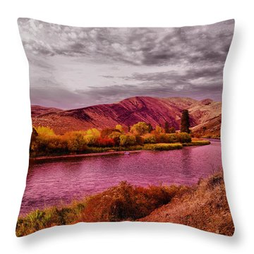 Throw Pillow featuring the photograph The Yakima River by Jeff Swan