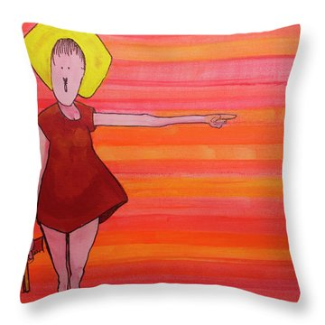 Throw Pillow featuring the painting They Were Warned by Donna Howard