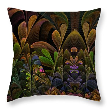 Throw Pillow featuring the digital art This Peculiar Life - Fractal Art by NirvanaBlues
