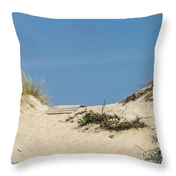 Throw Pillow featuring the photograph This Way To The Beach by Michelle Wiarda