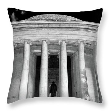 Throw Pillow featuring the photograph Thomas Jefferson Memorial  by Mitch Cat