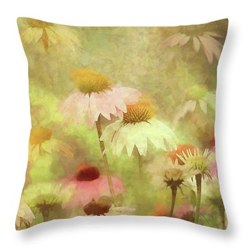Thoughts Of Flowers Throw Pillow
