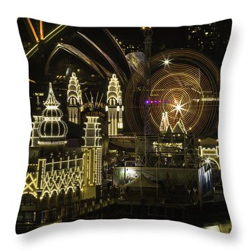 Throw Pillow featuring the photograph Three In One by Chris Cousins