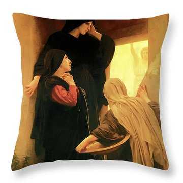 Three Marys At The Tomb Throw Pillow