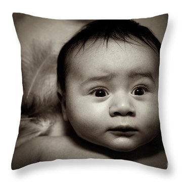 Three Month Old Baby Boy Throw Pillow