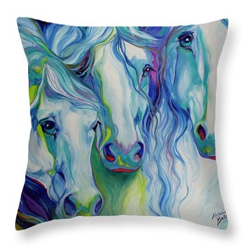 Three Spirits Equine Throw Pillow