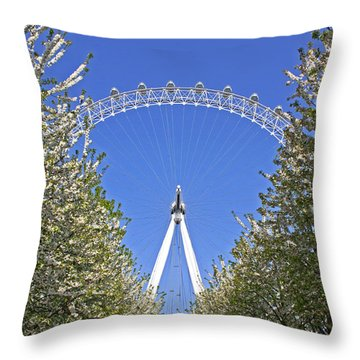 Through The Trees Throw Pillow by Shirley Mitchell