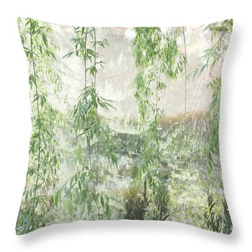Through The Willows Throw Pillow