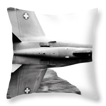 Thrust Throw Pillow by Angel  Tarantella