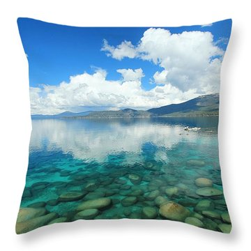 Throw Pillow featuring the photograph Thunderclouds by Sean Sarsfield