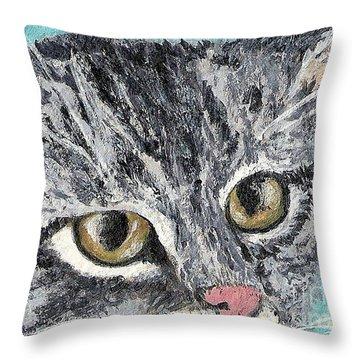 Tiger Cat Throw Pillow
