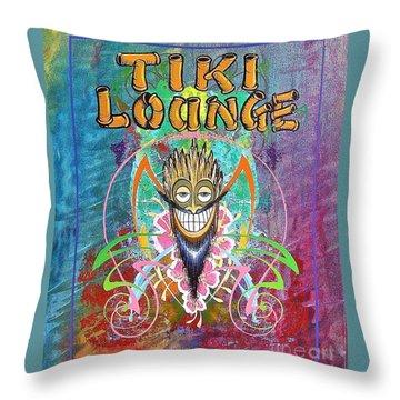 Tiki Lounge  Throw Pillow
