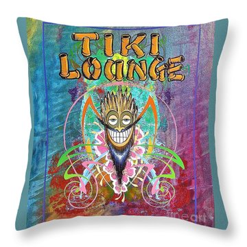 Tiki Lounge  Throw Pillow