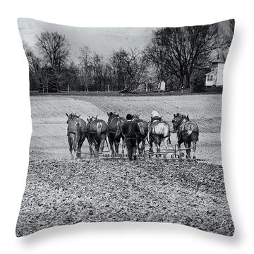 Tilling The Fields Throw Pillow