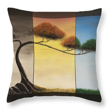 Throw Pillow featuring the painting Time After Time by Edwin Alverio