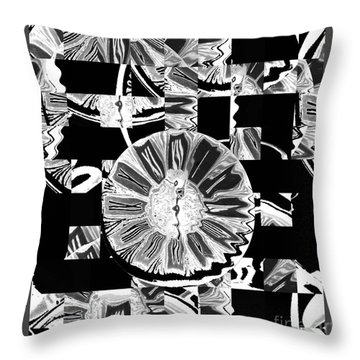 Time Warp Throw Pillow by Karen Lewis