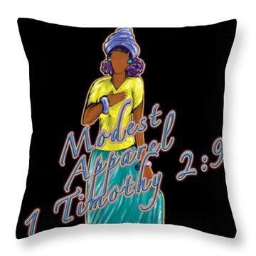 1 Timothy 2vs.9 Modest Apparel Throw Pillow