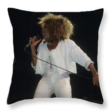Tina Turner Throw Pillow