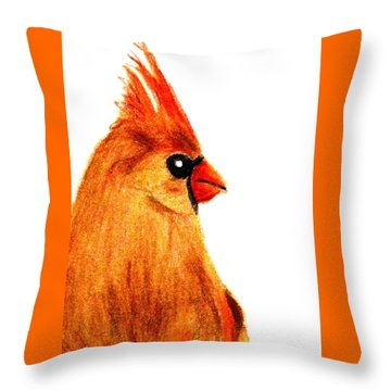 Birds Of A Feather Throw Pillow by Angela Davies