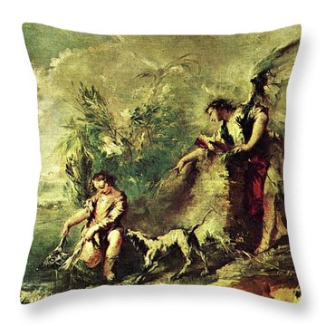 Tobias Fishing Throw Pillow