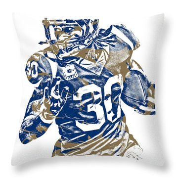 Todd Gurley Los Angeles Rams Pixel Art 22 Throw Pillow