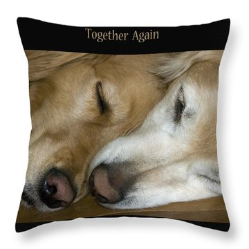 Together Again Throw Pillow by Rhonda McDougall
