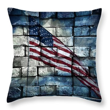 Throw Pillow featuring the photograph Together We Stand by Aaron Berg