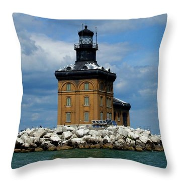Toledo Harbor Lighthouse Throw Pillow