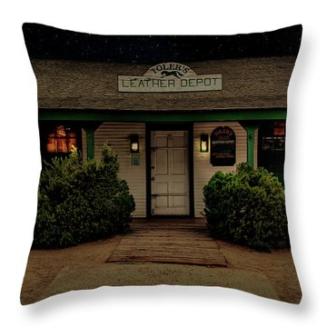 Toler's Leather Depot Throw Pillow