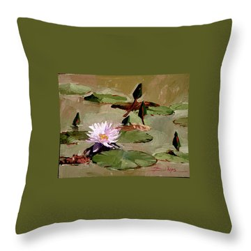 Tomorrow's Blooms- Water Lilies Throw Pillow