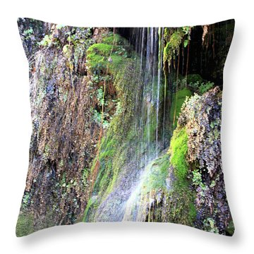 Tonto Waterfall Cave Throw Pillow