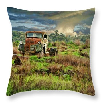 Tornado Truck Throw Pillow