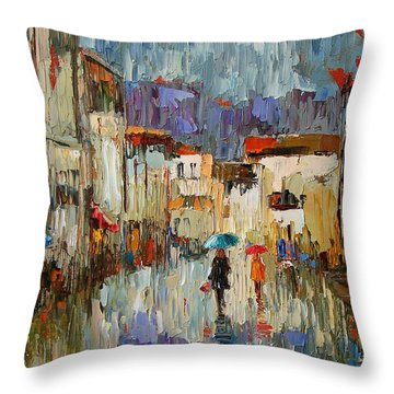 Tourists Throw Pillow by Debra Hurd