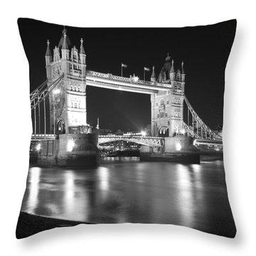 Tower Bridge On The Thames London Throw Pillow