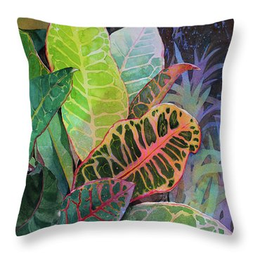 Throw Pillow featuring the painting Trailblazers by Kris Parins