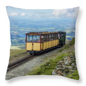 Throw Pillow featuring the photograph Train To Snowdon by Ian Mitchell